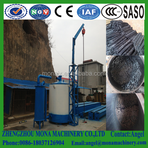 No Smoke Wood Log Continuous Carbonization Furnace/ Activated Carbon Kiln Furnace/ Biomass Activated Charcoal Carbonization Kiln