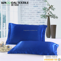 25mm Dark Blue Double Side Natural Pure Charmeuse Silk Stain Pillowcases