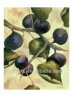 Handmade famous classical realism still life oil painting canvas painting of fruit figs