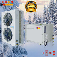 ErP CE Europe certifited air to water evi split heat pump 20kW for room heating and hot water with high COP in -25 degree C
