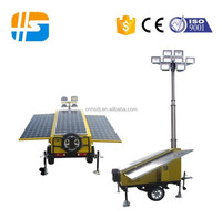 Outdoor used solar light tower trailer