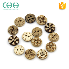 Child shirt round laser engraving flatback wooden buttons