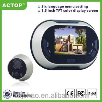 3.5 inch digital door viewer with door bell automaticlly take photos PHV-3502