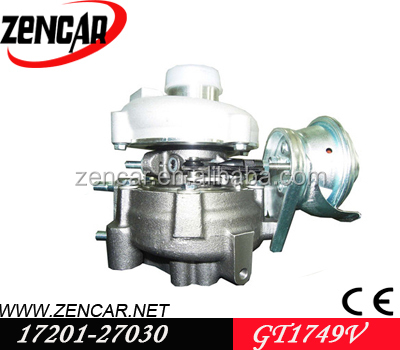 12 month warranty <strong>k18</strong> material GT1749V toyota turbocharger 17201-27030