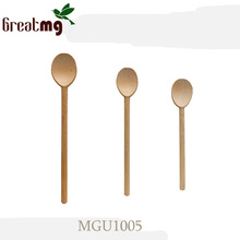 Natural Bamboo and wooden ice cream spoon crafts wood deco ice cream spoon