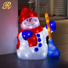 Outdoor metal light up snowman for christmas decoration