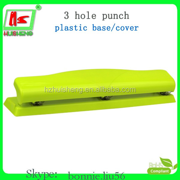 Custom shape puncher plastic 3 hole punch for school office