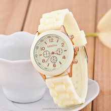 hot Geneva silicone watch silicone watch band wristband watch