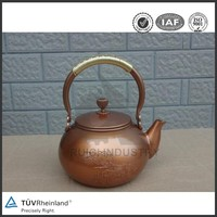 wooden handle chinese brass teapot