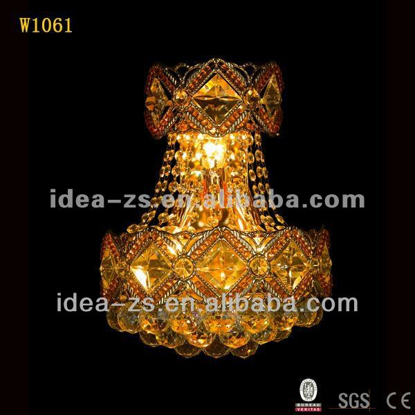 Competitive unique/modern crystal wall lamp sconce lighting, Laidi factory W1061