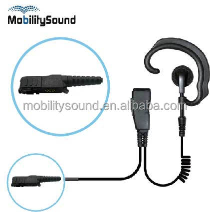 Two way radio ear hook lapel microphone for Motorola MOTOTRBO Digital radio DP2400 DP2600 MTP3150 MTP3250 MTP3500 GP328D XPR3500