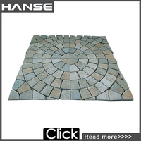 HS-WT123 laminate rough stone pattern flooring tile