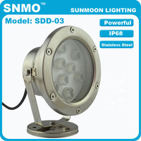 9w ip68 underwater led lights for small fountains