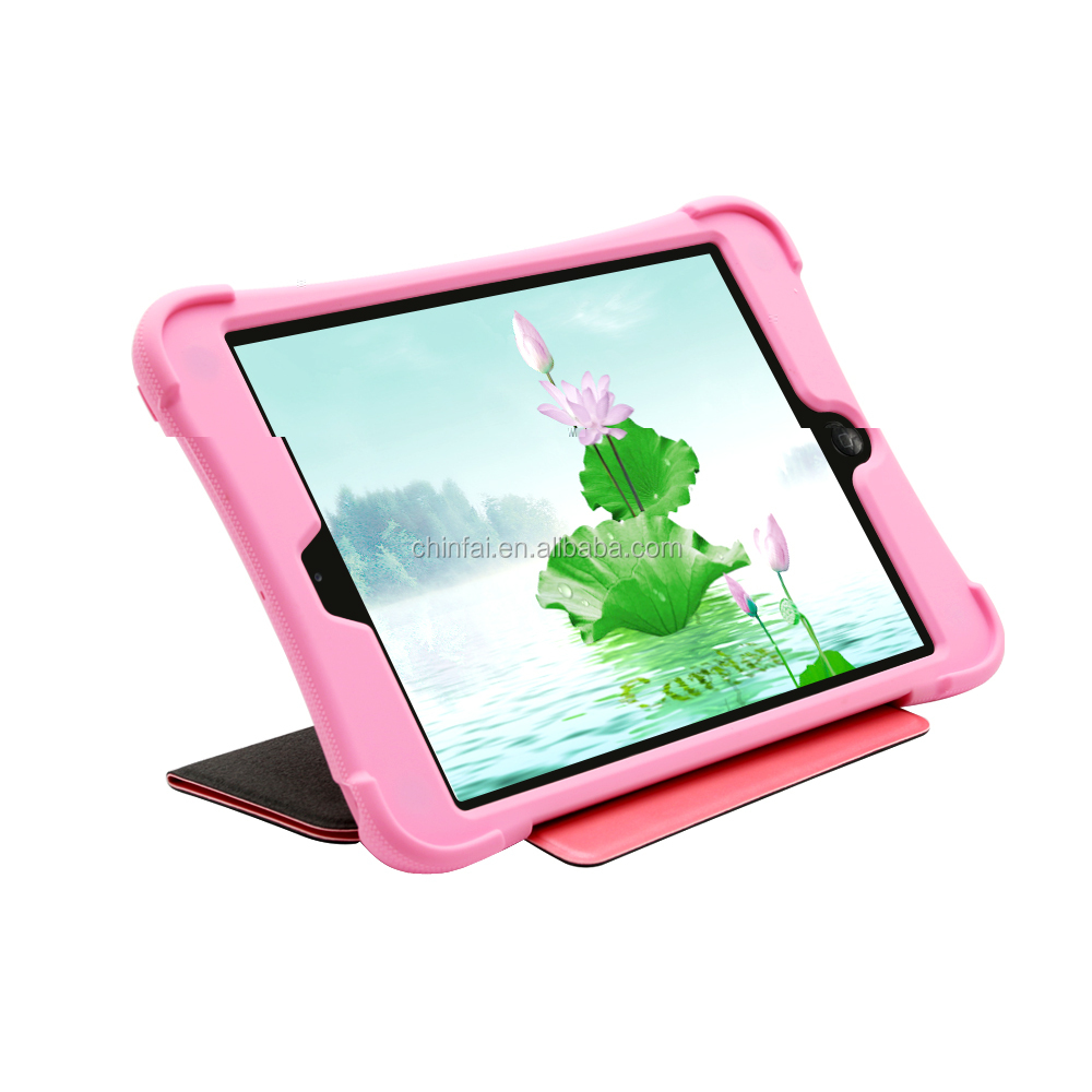 New arrival smart case for ipad pro, Smart Silicone Back Leather Flip Case