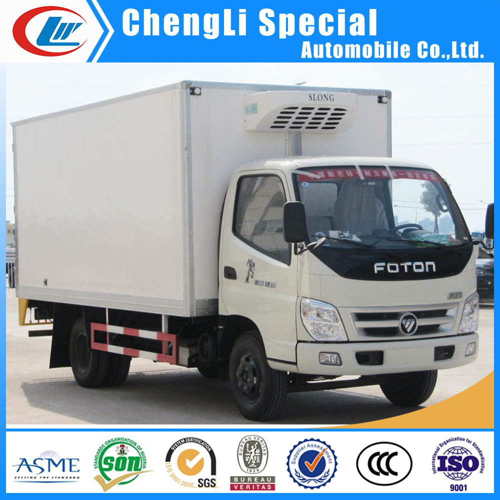 Foton 5tons Mini Refrigerated Van truck used cooling van truck Refrigerated 4*2 for sale