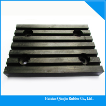 Rubber pads for vibration isolation