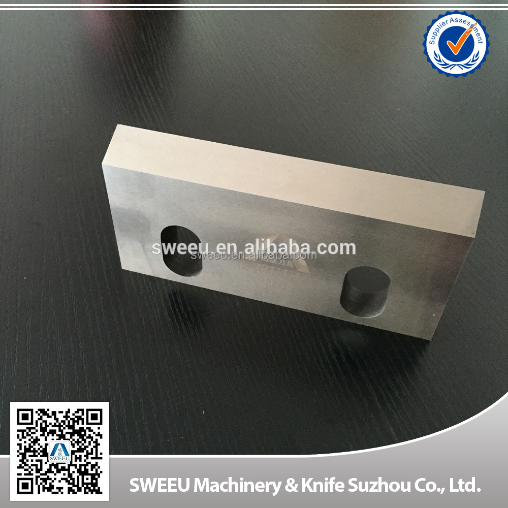 China plastic recycling crusher fixed knife/blade