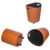 Custom round and stylish leather store bin with wheel