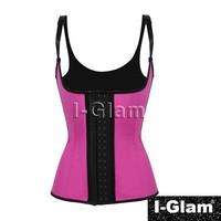 2015 I-Glam Sexy Halter Underbust Waist Trainer Cincher Rubber Corsets Body Shape Wear Latex Bustier