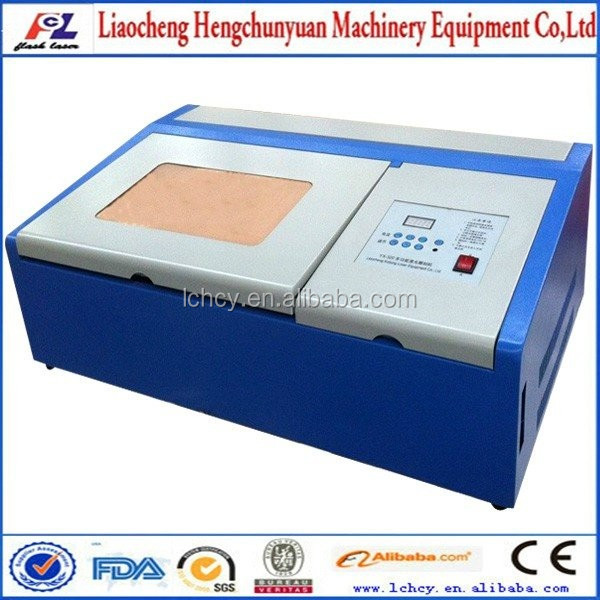 40W table top screen protector laser cutting machine/coconut shell/rubber stamp laser engraver