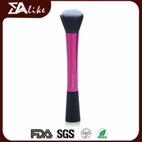 Private label professional facial flat top liquid powder stippling foundation brush set