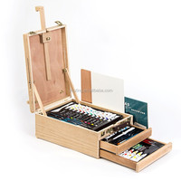 94pcs acrylic watercolor oil painting art pencil set wood box