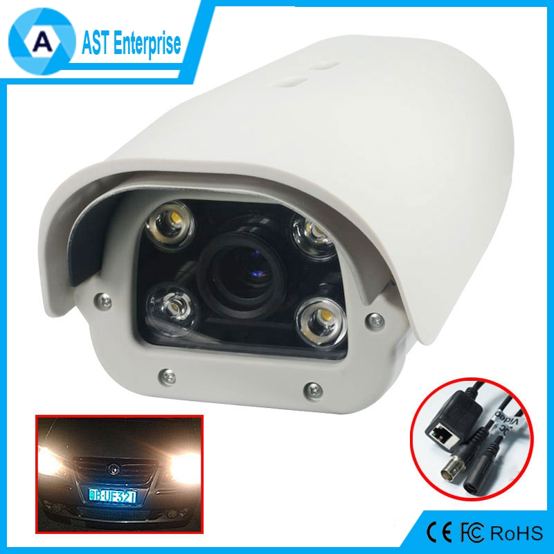 2MP License Plate Recognition Capture 1080P LPR IP Camera 6mm/8mm/12 Lens For Highway, White Light Leds,0-120km/h Vehicle Speed