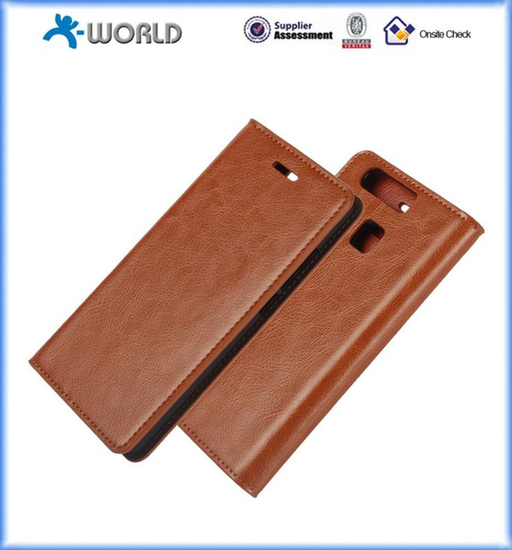 Flip folio Pu Leather Wallet Pouch Case Cover with Stand Card Slots for Huawei P9
