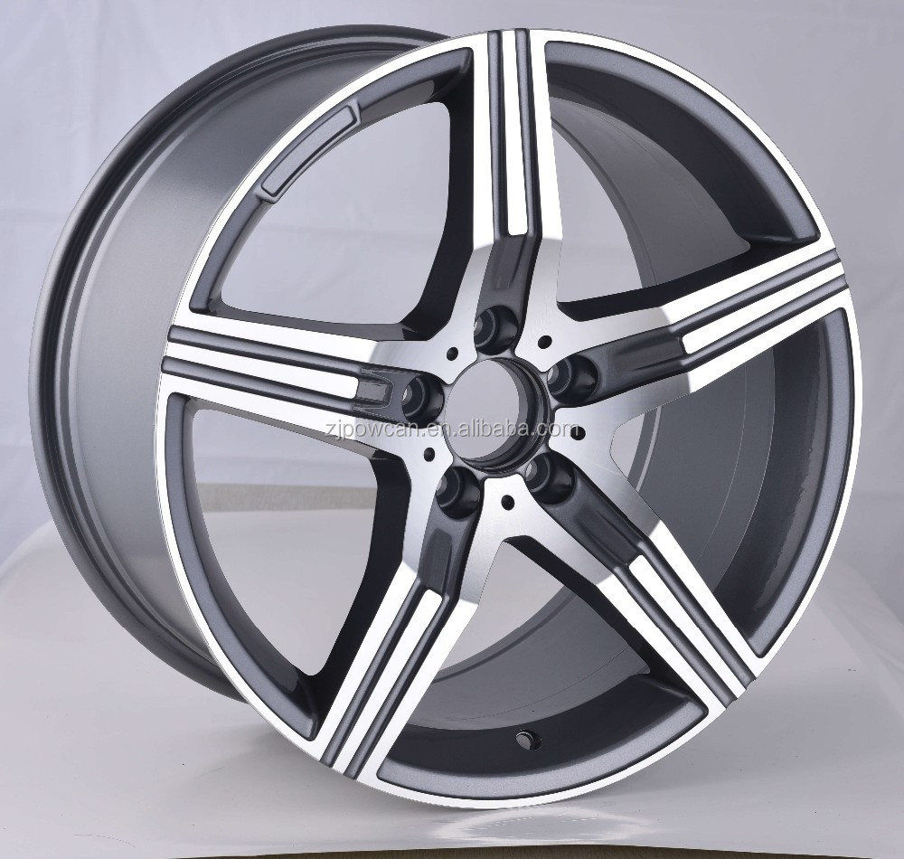 hot replica wheel rim for mag wheels rims fit for17inch car wheels 5/112 with POWCAN and Baokang produce