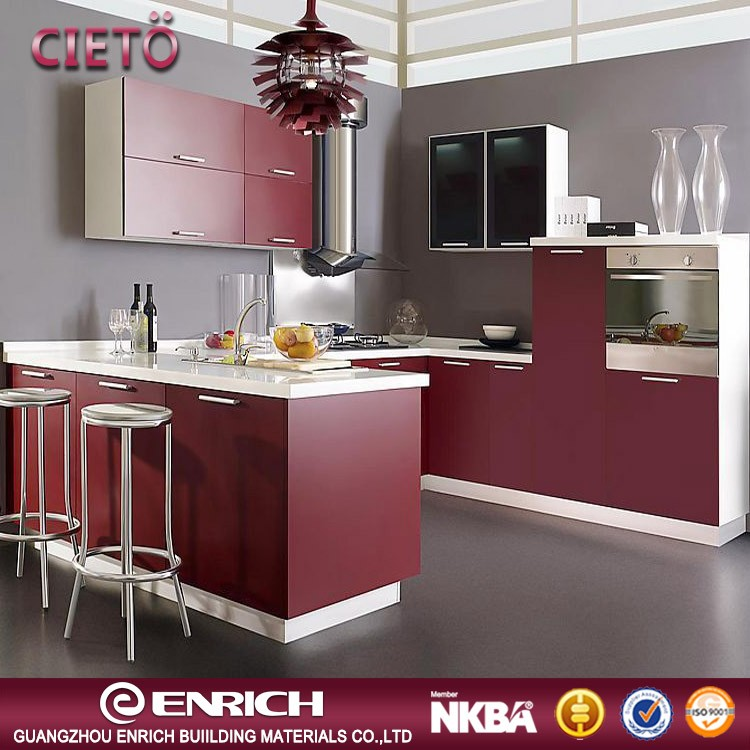 2017 Affordable Price modern kitchen cabinets direct from china factory lacquer design kitchen cabinet