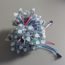 5V LED pixel WS2801; full color; waterproof IP68; 50pcs a string, Square Shape