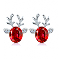 Christmas Deer Animal Stud Earrings for Women Piercing Jewelry