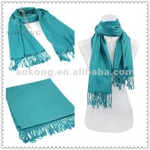 Most hot sale acrylic pashmina 2013 in solid color fashion winter acrylic scarf
