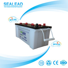 N150 12v 150ah Professional dry charged truck battery in Dubai market car battery brand names