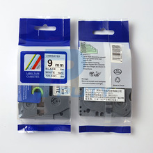 compatible p-touch tape tz-s221 tz s221 tz tape black on white 9mm strong laminated label cartridge