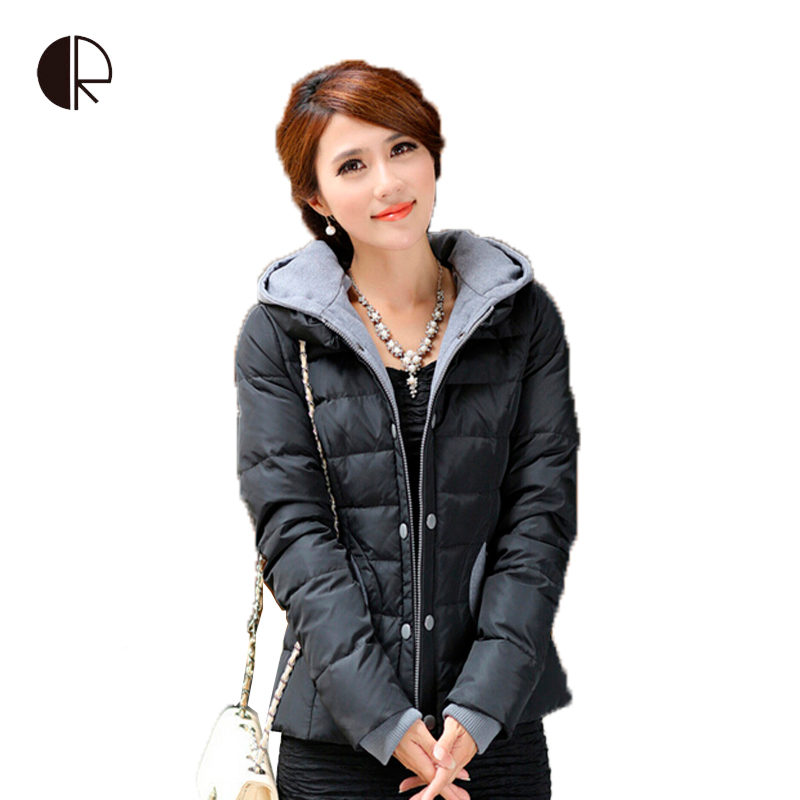 Large size fashion parkas for women winter Down jackets coats fur neck overcoat casual brand clothing Long Sleeve Slim Outerwear