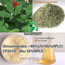 Cosmetics material Ginsenoside Re Panax red ginseng 80%