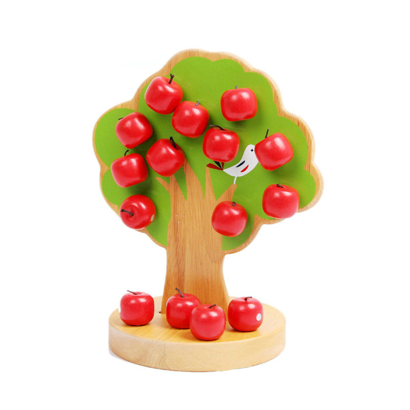 wholesale apple tree wooden magnetic toy