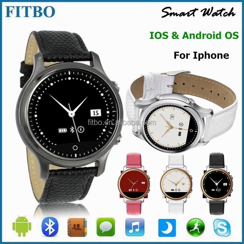 Multifunction PU Leather + IOS Android SOS best watch mobile phone for xiaomi 4/5