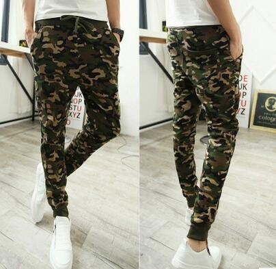 Mens Jogger Pencil Harem Pants Men Camouflage Military Pants Loose Comfortable Cargo Trousers Camo Joggers