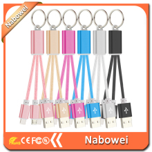 Custom LOGO data cable Easy data cable 2 in1 keychain data cable for iphone for Samsung