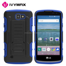 Smartphone case covers for LG VS425 optimus zones3 combo case with stand