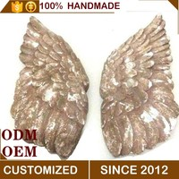 clay colorful angel wings wall hanging decoration