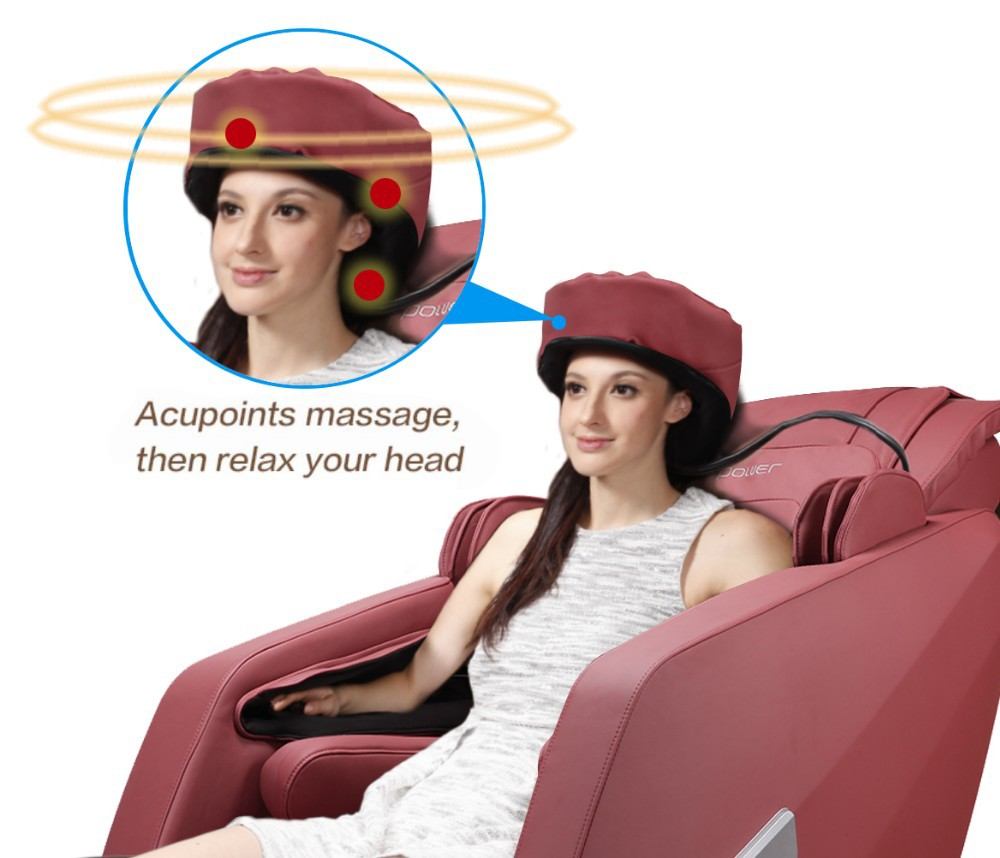 J shape Super long stroke Zero Gravity full body massage chair with Patent head massage design