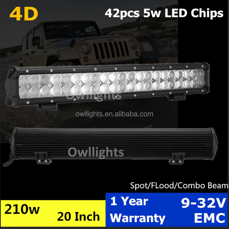 "automobile parts hot products aluminum housing 20"" led light bar 210W for trucks, off road, buggy 4x4"