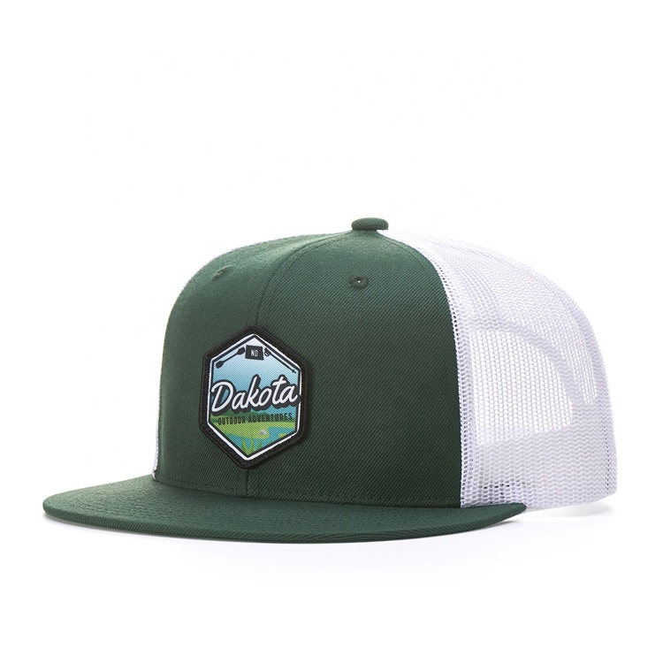 Custom Design Adults Size Printing Woven Patch Trucker <strong>Hat</strong>/6 Panel Fitted Style Mesh Snapback <strong>Hat</strong>