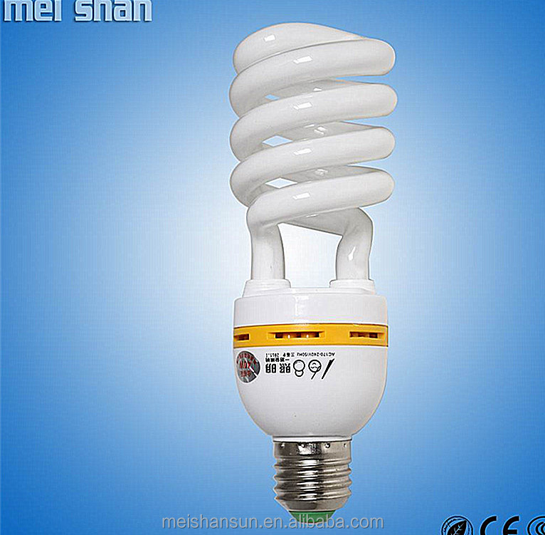 Tri- color 3.5 -circuit 15w 6400k 1 years small hlaf spiral cfl