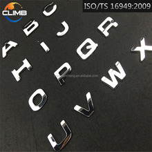3D Chrome Letter Emblem Car Decoration Chrome Sticker for Cars