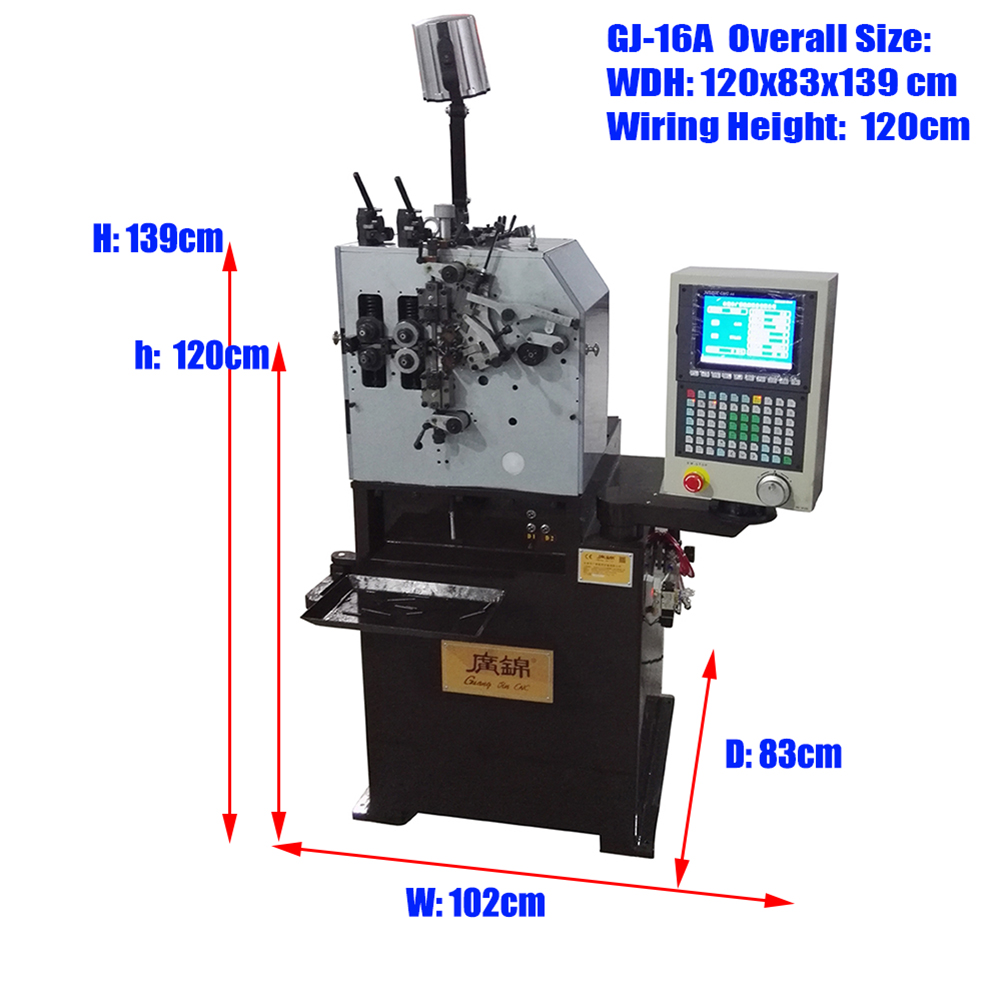 2KW CNC precise 2 Axis 0.15--1.60 mm compression spring machine