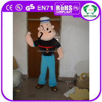 HI EN71 Popeye movie wholesale mascot costumes commercial use